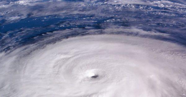 hurricane over ocean