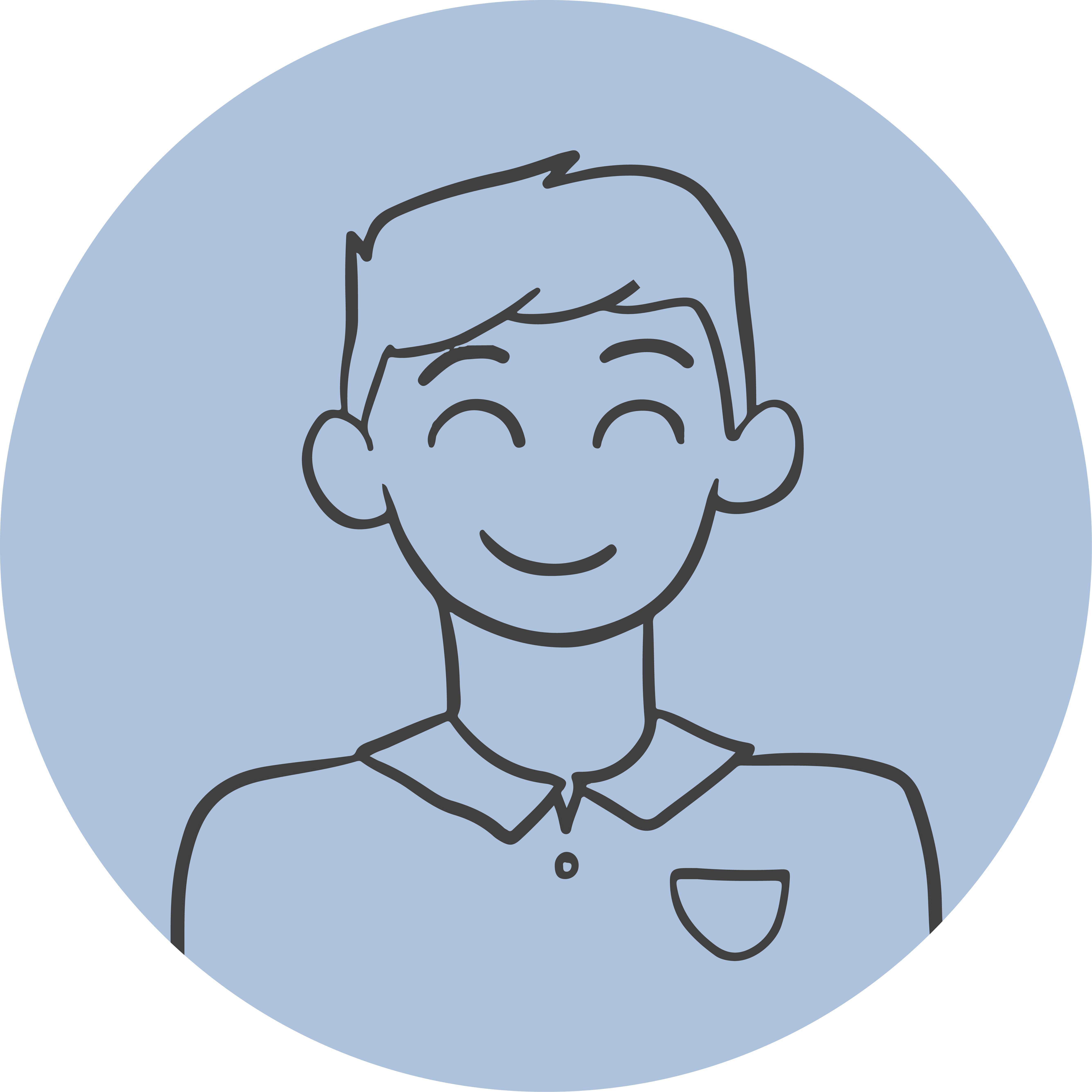Guided Doodle Headshot – Man-01
